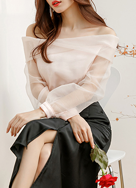 Angel Organza Off Shoulder Blouse, Styleonme