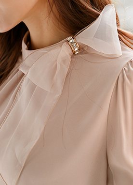 Erica Lovely Ribbon Blouse, Styleonme
