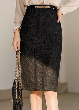 Minimal Midi Pencil Skirt, Styleonme