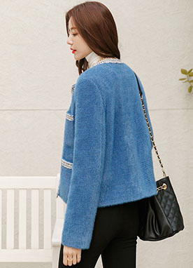 High Quality Mohair mix Jacket, Styleonme