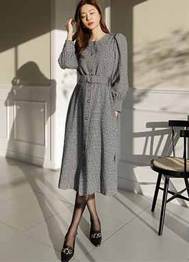 Hound Check Dress and Coat, Styleonme