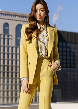 Gold Button Tailored Blazer, Styleonme