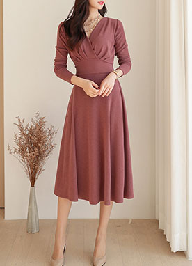 Atelier Wrap Design Knit Dress, Styleonme
