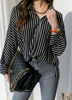 Well Made Basic Stripe Shirt, Styleonme