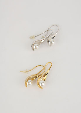 Pearl Scoop Earrings, Styleonme