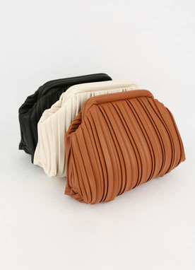Eco Leather Wrinkle Clutch Bag, Styleonme