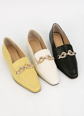 Gold Chain Loafers, Styleonme
