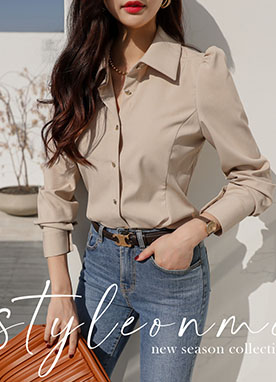 High Tension Puff Sleeve Shirt, Styleonme