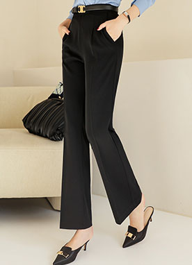 Essential Grazia High Waisted Slacks, Styleonme