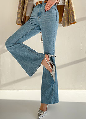 Dramatic Silhouette Bootcut Jeans, Styleonme