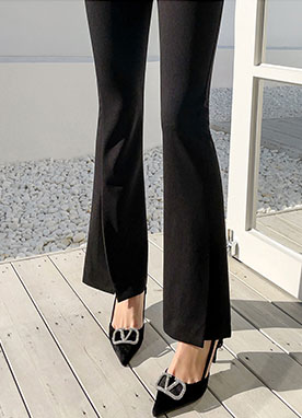 High Tension Spandex Semi Bootcut Pants, Styleonme