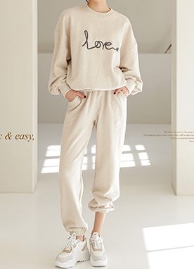 Love Letter Cotton Sweat Set Up, Styleonme