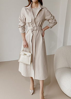 Modern Trench Coat Dress, Styleonme