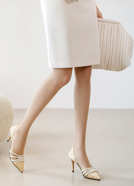 Pearl Strap Heels, Styleonme