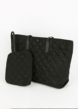 Quilted Shoulder Bag with pouch, Styleonme