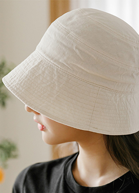 Cotton Two Tiered Bucket Hat, Styleonme