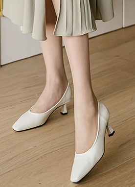 Simple is Best Mid Heels, Styleonme