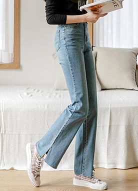 High Rise Wide fit Bootcut Jeans, Styleonme