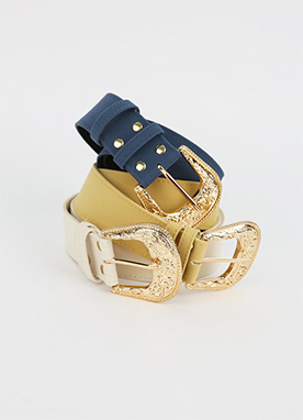 Trendy Bold Statement Buckle Belt, Styleonme