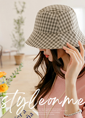 Reversible Check Bucket Hat, Styleonme