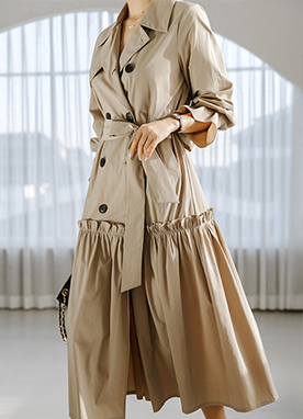 Sarah Trench Coat Dress, Styleonme