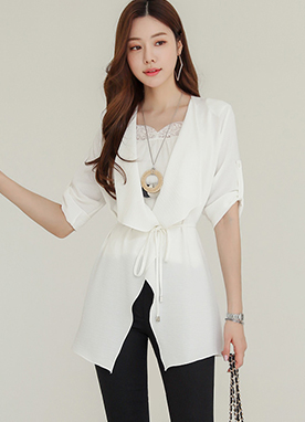 Sheer Chiffon Wrap Jacket, Styleonme