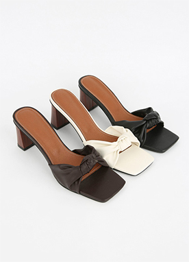 Ribbon Mule Sandals, Styleonme