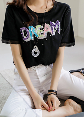 Colorful Vivid Dream Spangle T-shirt, Styleonme