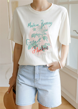 Blooming Rose Spangle T-shirt, Styleonme
