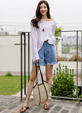 Soft Airy Oversized Long Sleeves Knit Top, Styleonme